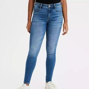 American Eagle Hi Rise Jeggings Skinny Jeans Boho